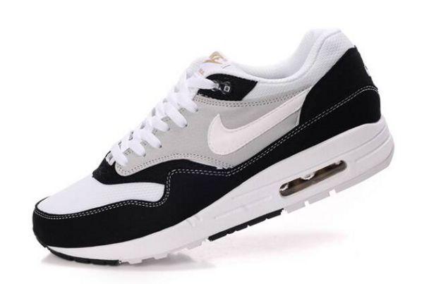 Nike Air Max 1 Zapatos para Hombre Negros/Blancos-Grises http://