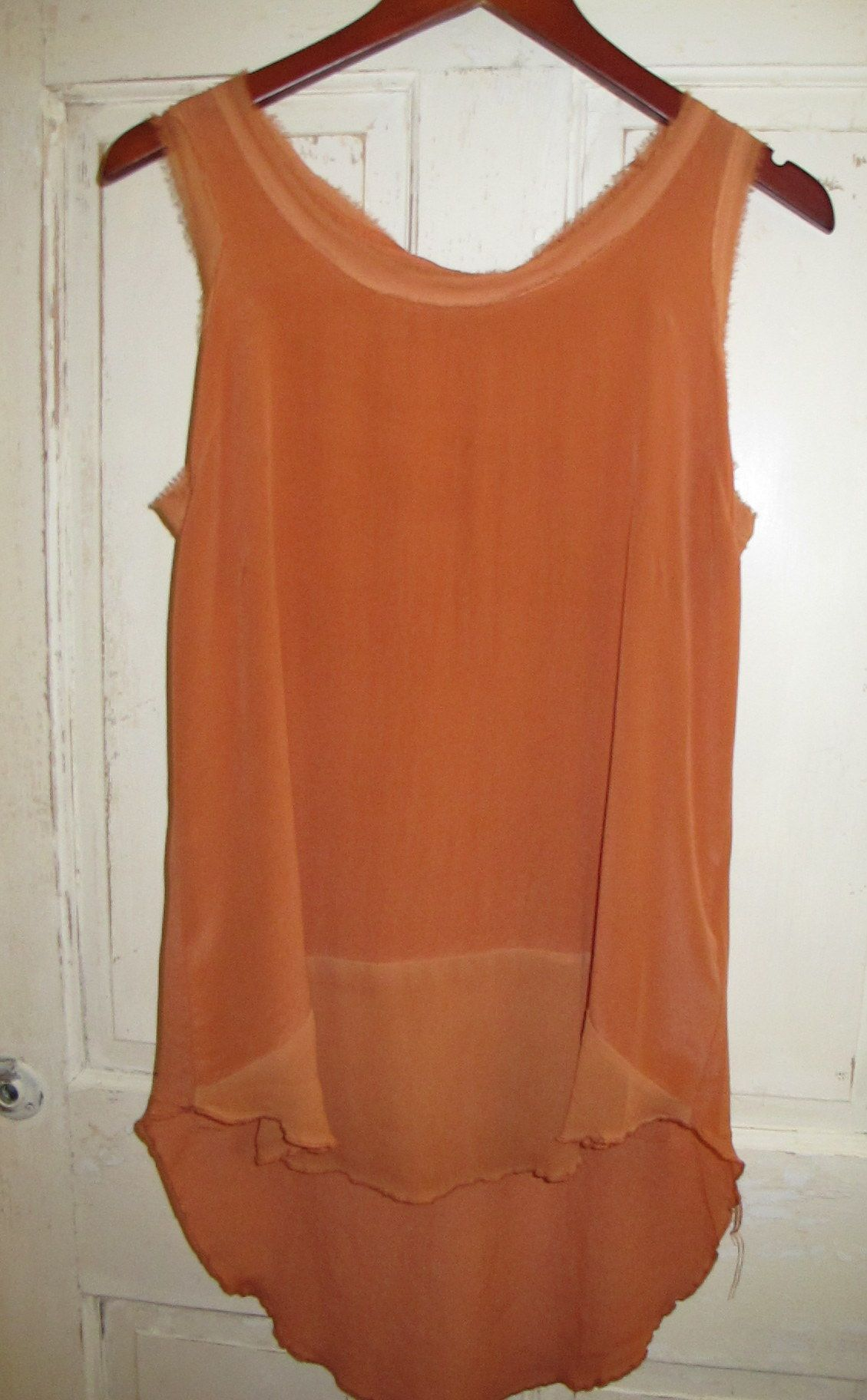 Black Sheep Oriana Blouse in Tangerine