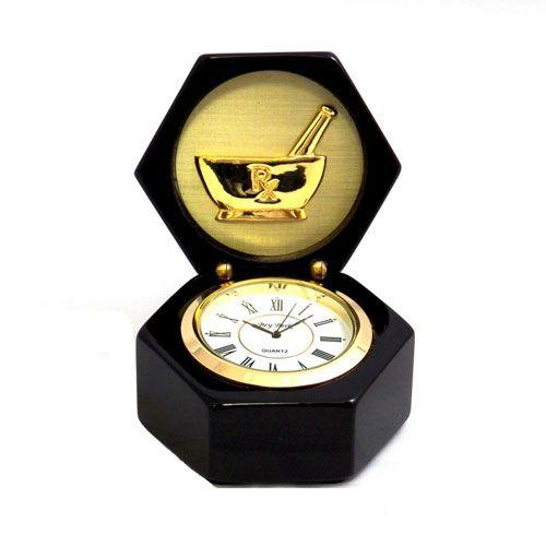 Pharmacist Hexagon Table Clock | BuyGifts.com