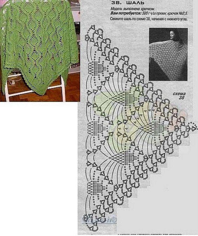 Crochet sólo con paso a paso o video | Chal, Es facil y Ganchillo