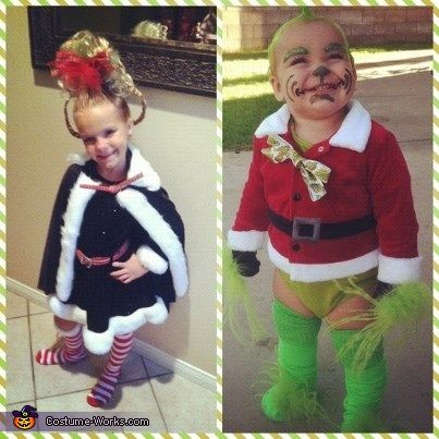 baby grinch and cindy lou who 2012 halloween costume contest - Baby Grinch Halloween Costume