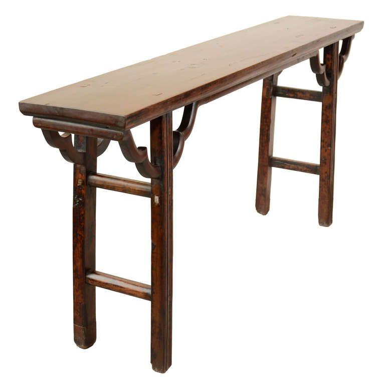 Etonnant 19th Century Chinese Walnut Altar Table