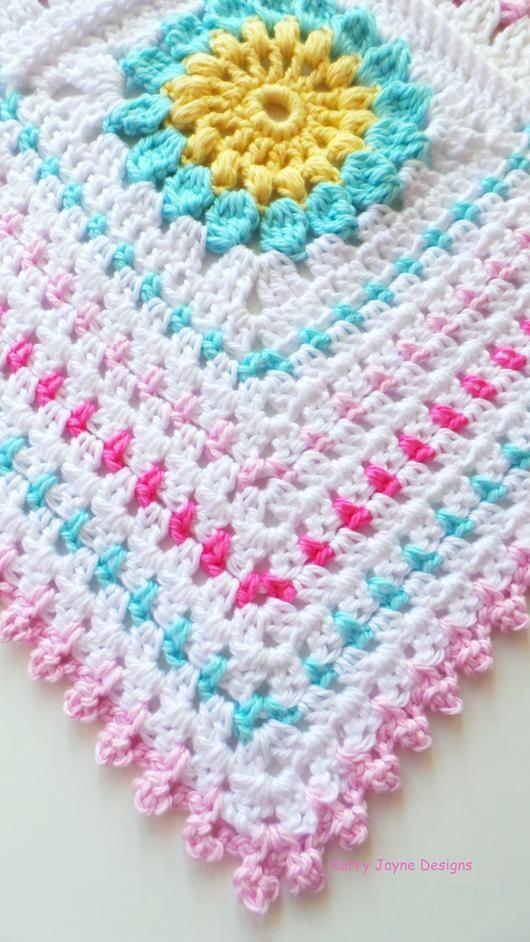 Starry Sun Blanket Crochet Pattern UK | Häkeln | Pinterest | Gorras ...