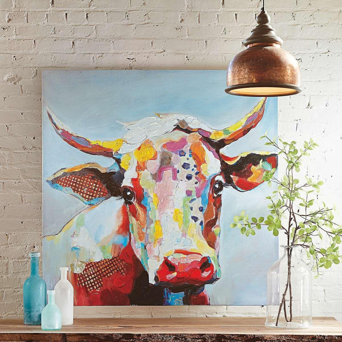 Bessie Wall Art Grandin Road Cow Wall Art Canvas Wall Art Art