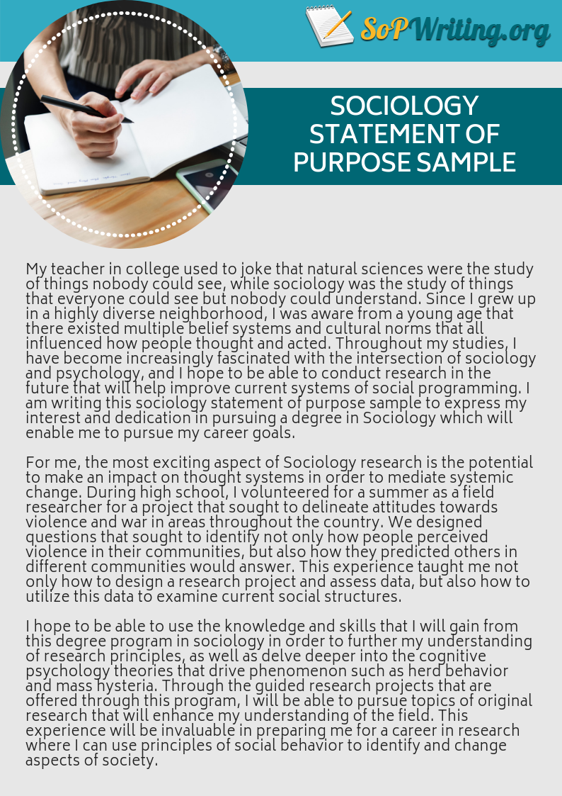 Sociology Statement Of Purpose Sample Graduate School Organization Physic Classroom Forensic Psychology Master Personal Example