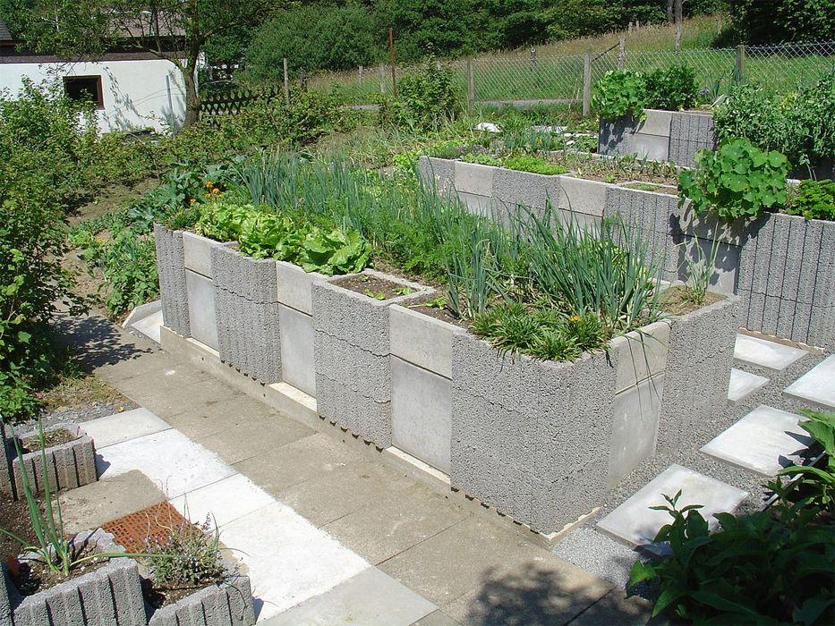 Hochbeet Bauen Aus Pflanzsteinen Projekt Garten Pinterest