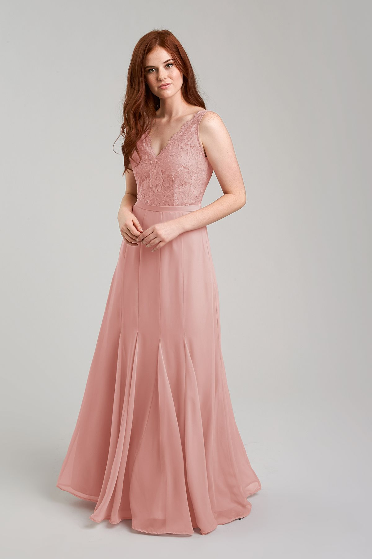 Rose colored wedding dress  Mila  Party fashion Dusty rose and Favorite color