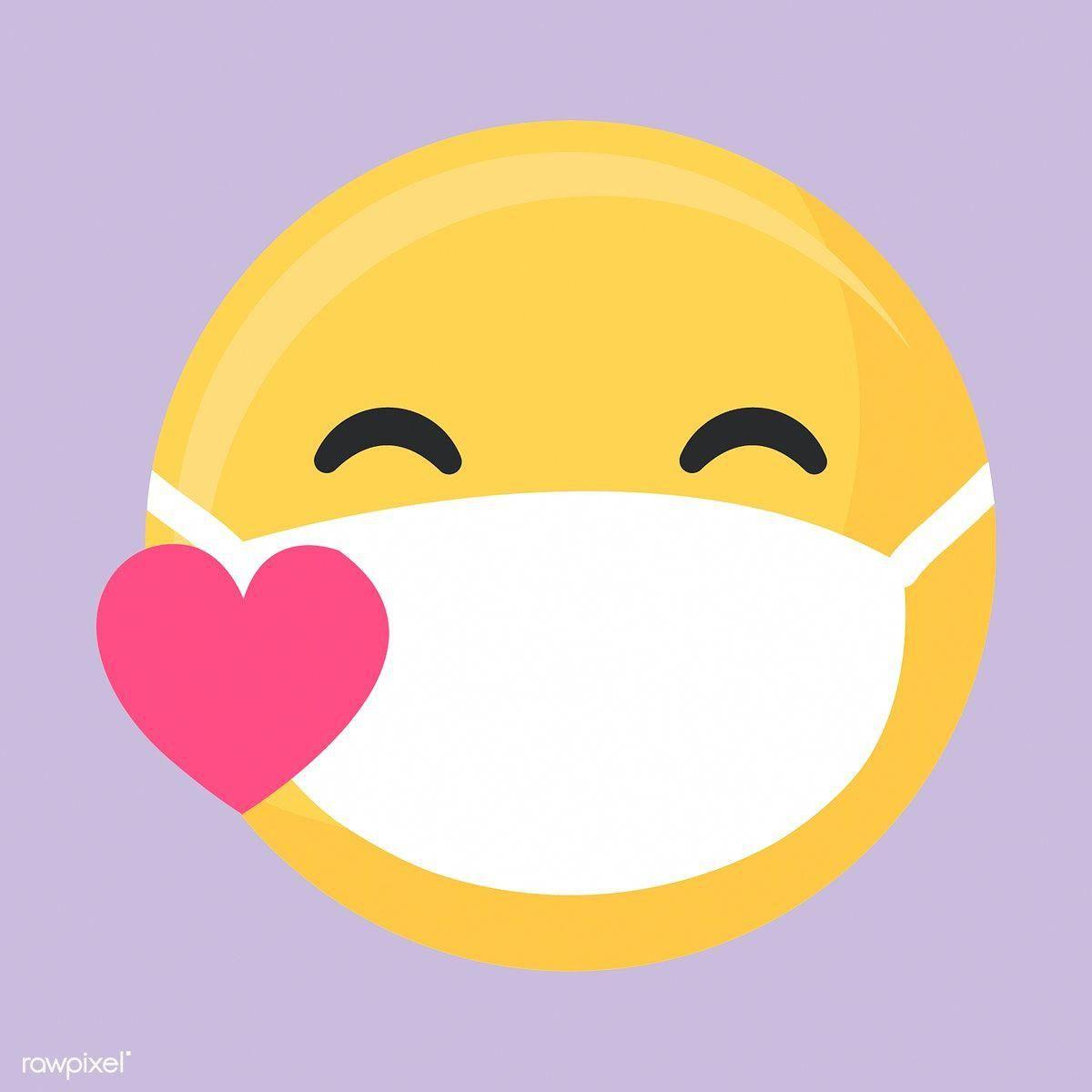 Face Mask Pattern Za Free Illustrations Sick Emoji Heart Emoji