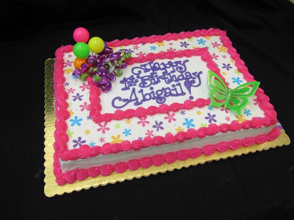 Birthday Sheet Cake By Stephanie Dillon Ls1 Hy Vee Birthday Sheet Cakes Sheet Cake Cake
