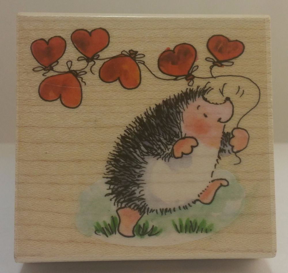 HEARTS AWAY 3609H Margaret Sherry Valentine Love Penny Black Stamp #0031