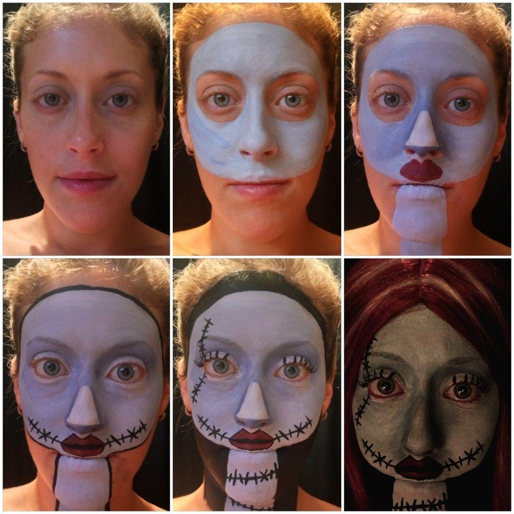 The Nightmare Before Christmas makeup transformation  Christmas