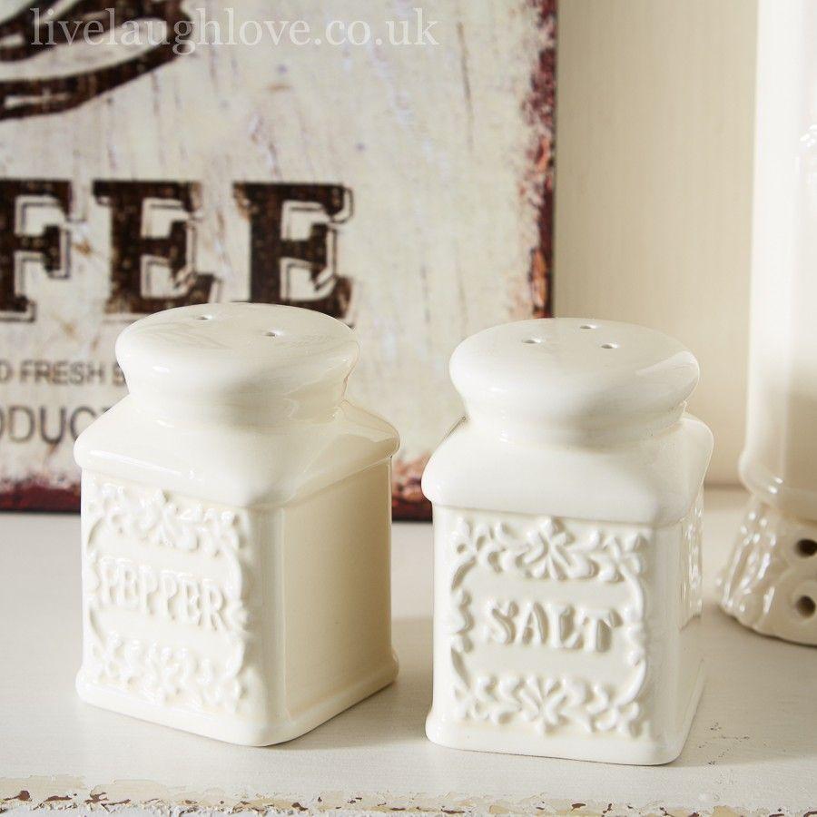 Cream china salt and pepper | Business Ideas | Pinterest | Pepper ...