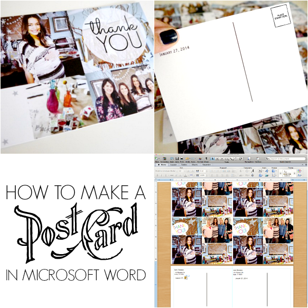 microsoft word postcard template