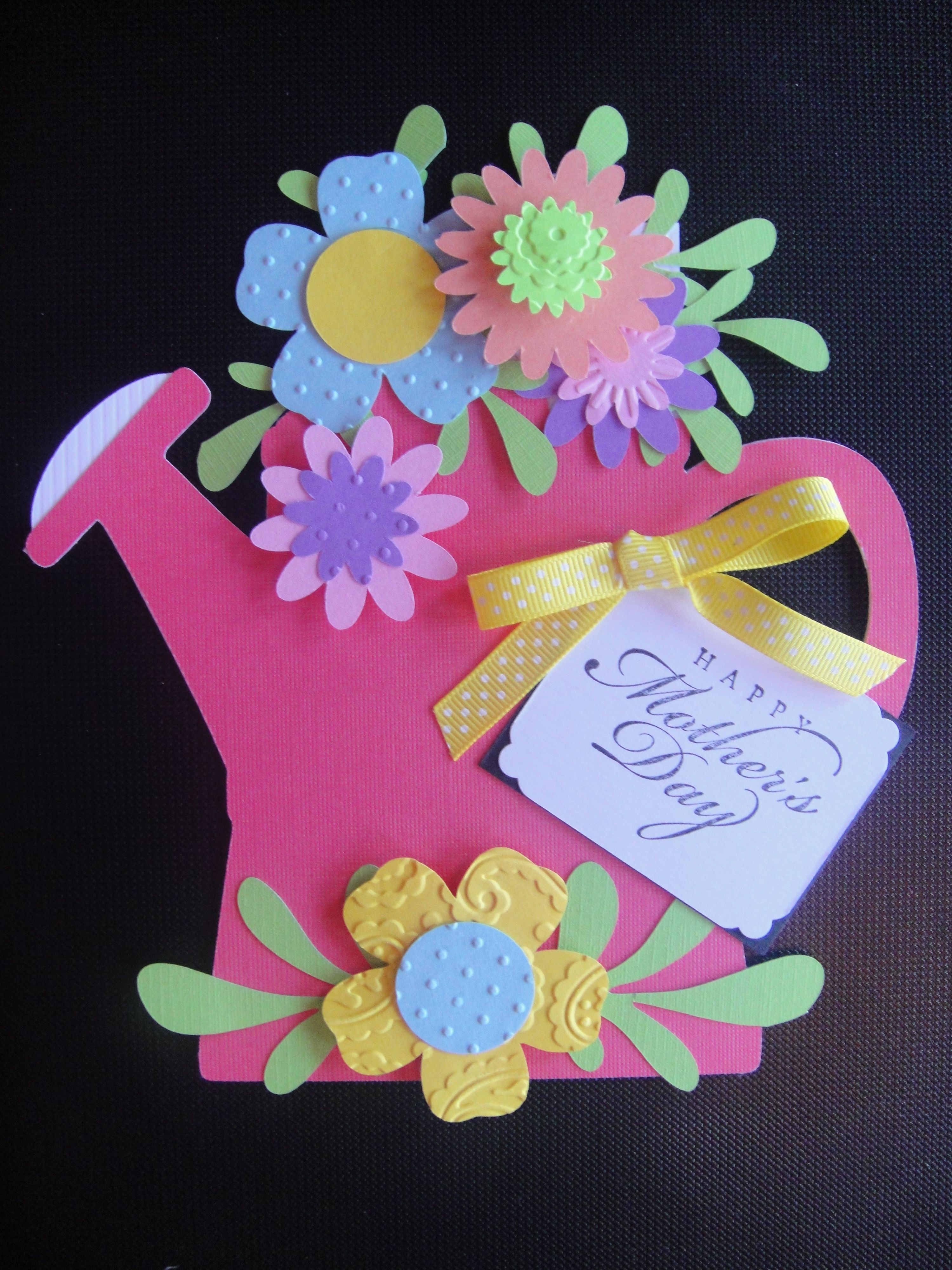Motherus day card with pull out top to insert gift card class art