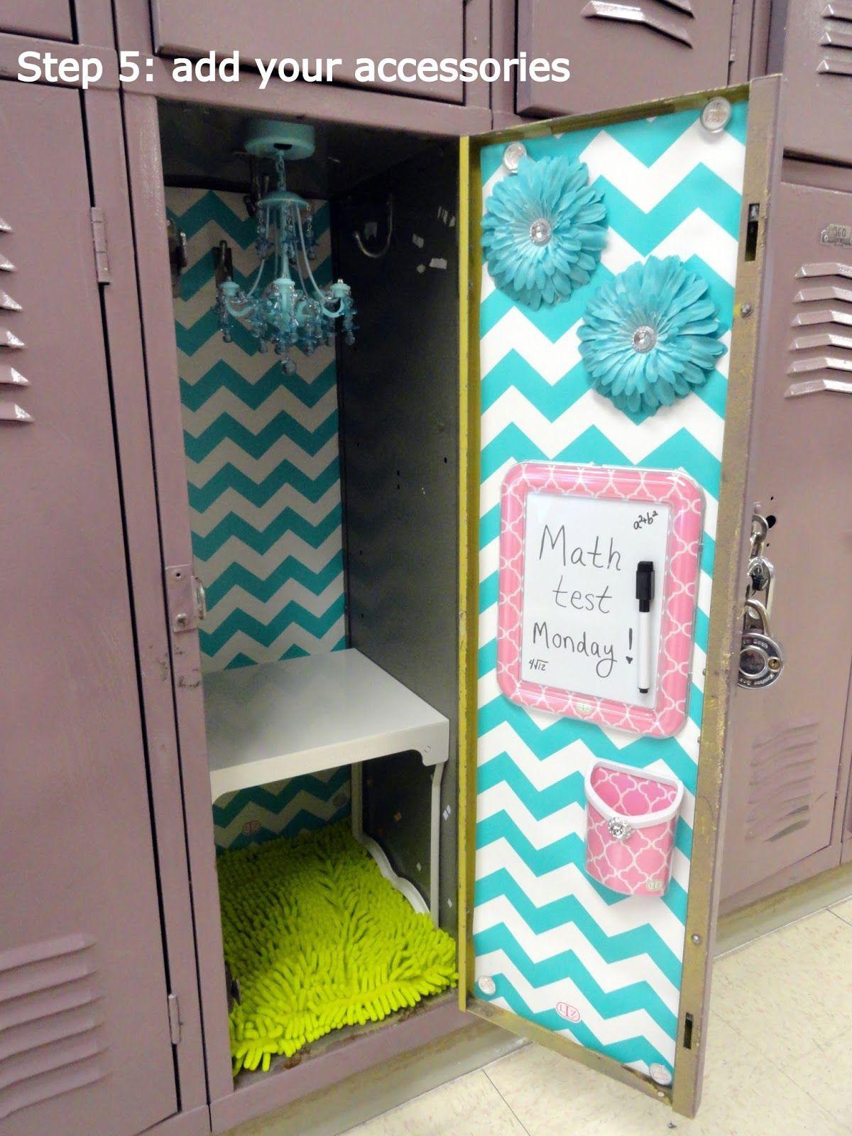 Diy Locker Decor Ideas Decoration Girls For School Easy Cubbies