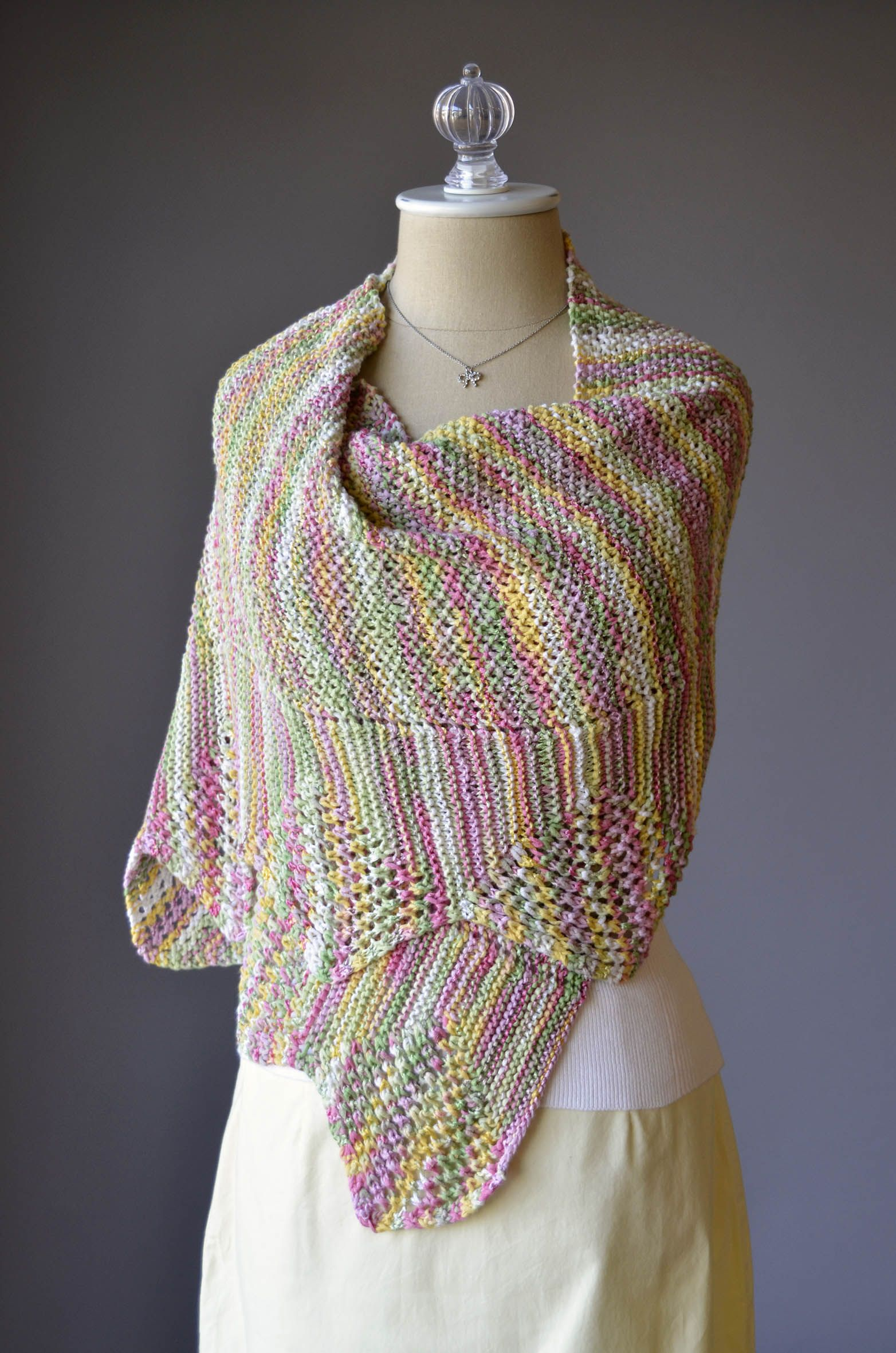 Free knitting pattern from universal yarn solitaire stole in free knitting pattern from universal yarn solitaire stole in rozetti yarns lumen multi bankloansurffo Choice Image