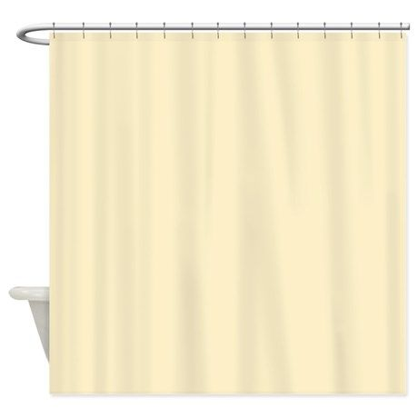 Solid Pale Yellow Shower Curtain By The Shower Curtain Yellow