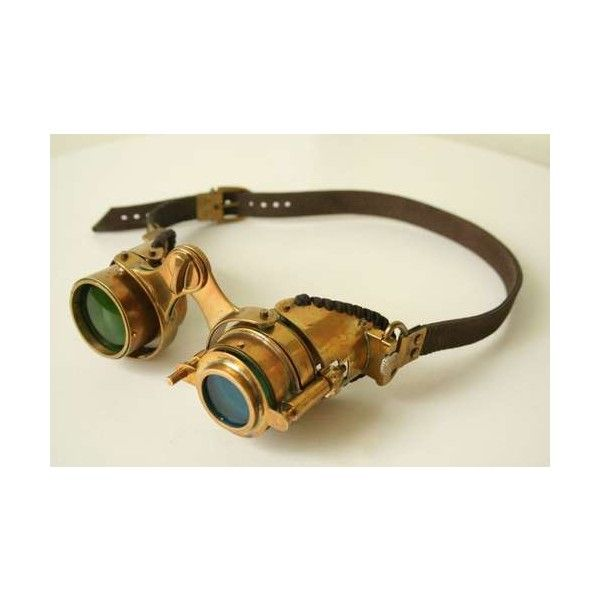 """Steampunk goggles """"N-Axis"""" ❤ liked on Polyvore"""