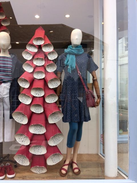 Paper Foxglove window display at Seasalt