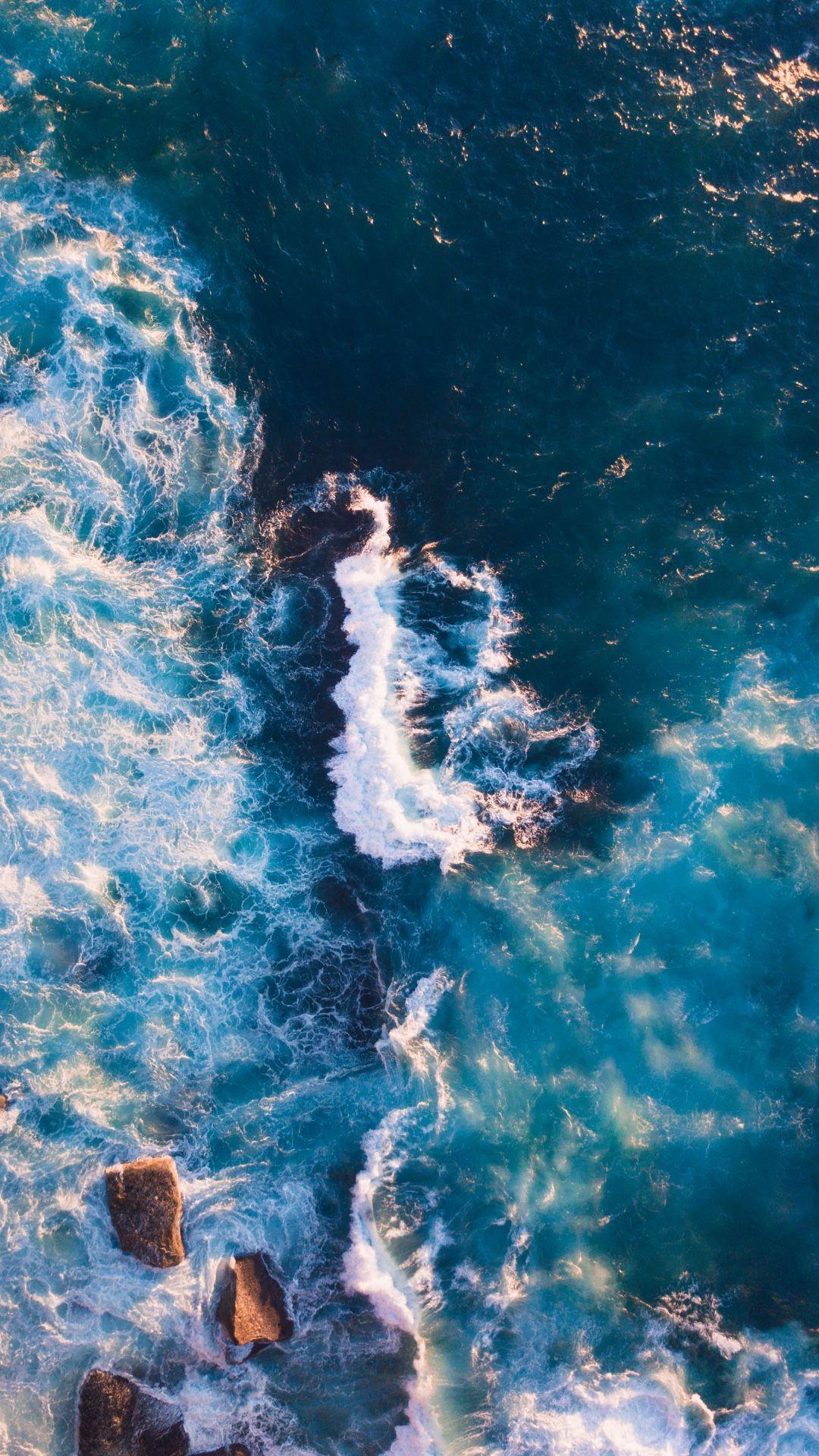 Ocean wallpaper for your iPhone XS from Everpix wallpaper