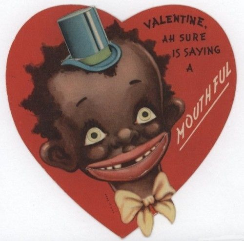 15 Unbelievably Racist Antique Valentines Day Cards – Old Valentines Day Cards