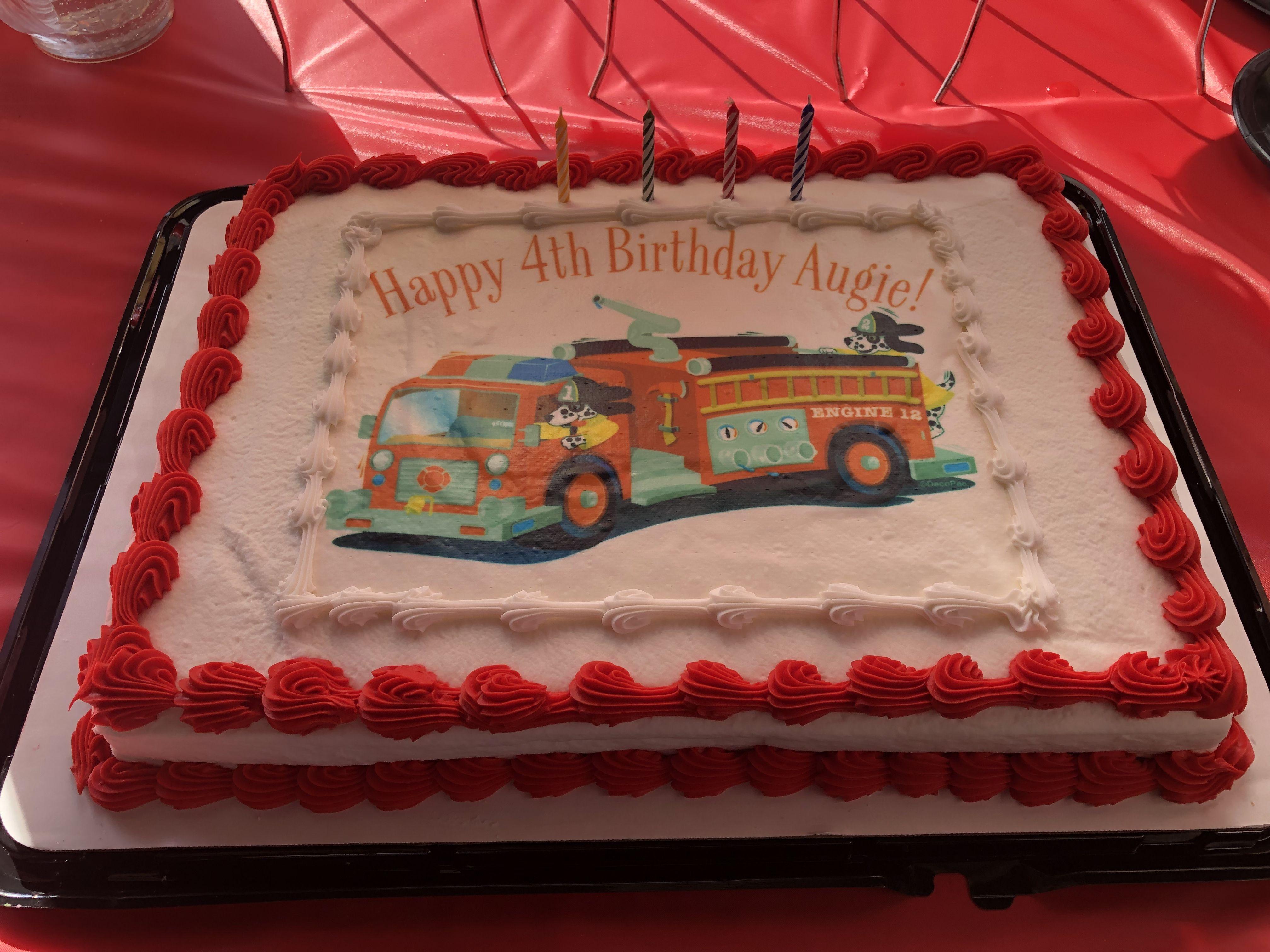 Cute fire truck happy birthday augie happy 4th