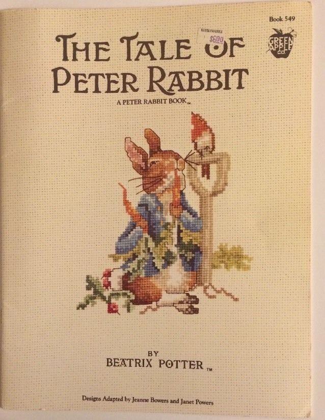 Beatrix Potter Peter Rabbit Winter Walk Fairy Tale Counted Cross Stitch Pattern