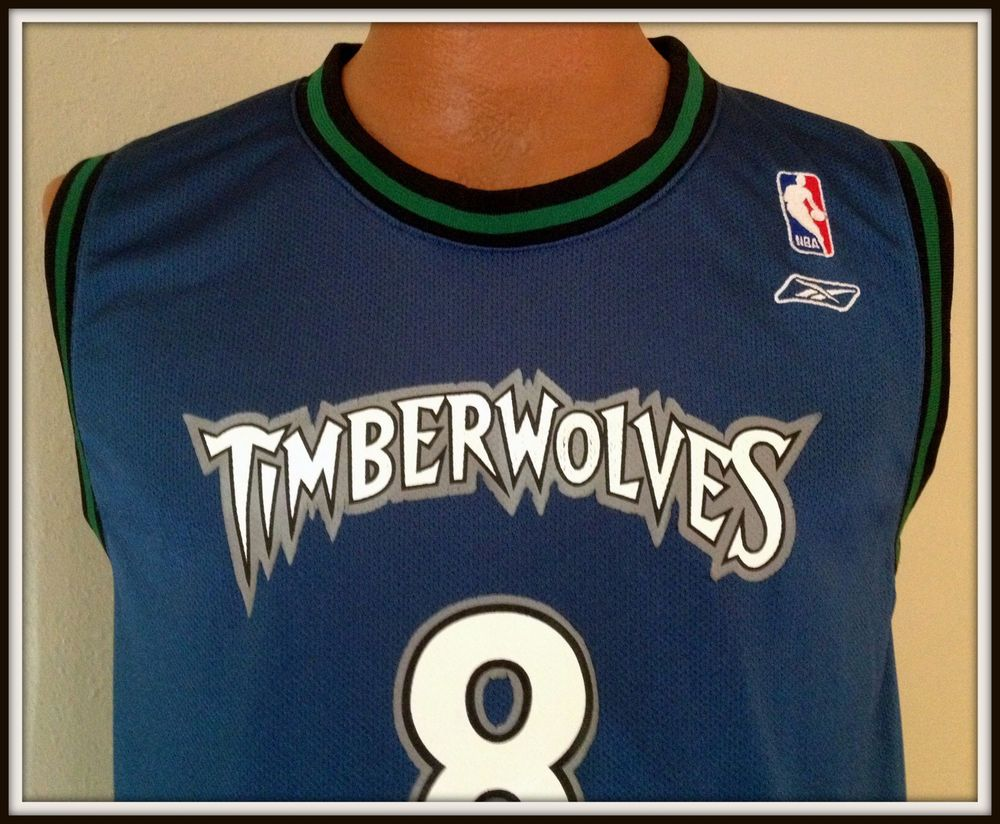 VINTAGE MINNESOTA TIMBERWOLVES LATRELL SPREWELL REEBOK JERSEY YOUTH LARGE 14 -16… a43c8e636