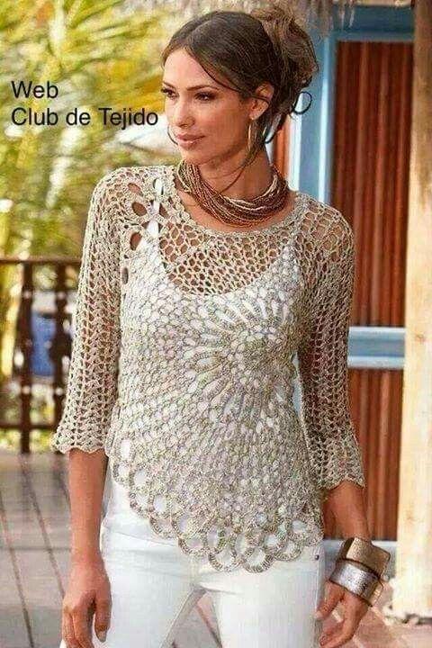 Patron polera | patrones crochet | Pinterest | Patrones, Ganchillo y ...