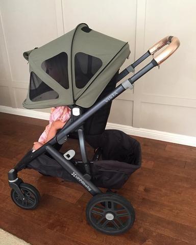 Stroller canopy hack/upgrade! | Stroller hacks, Uppababy vista