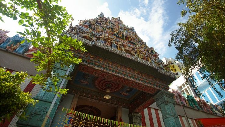 Marvel at the intricate details of architecture from a time long ago at Little India, Singapore.