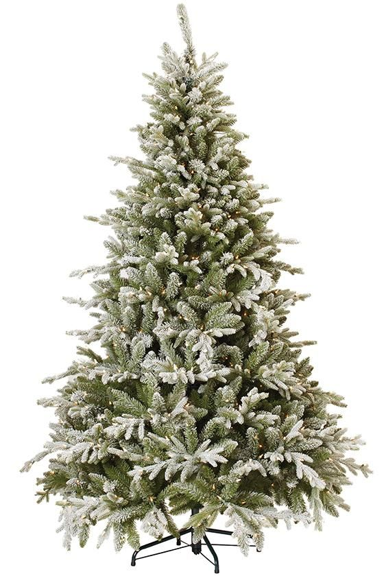 Martha Living Snowy Cambridge Fir Pre Lit Artificial Tree Faux Christmas Trees Xmas Entryway