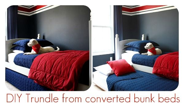 convert a bunk bead into a trundle bed via @TCreativeBlogs