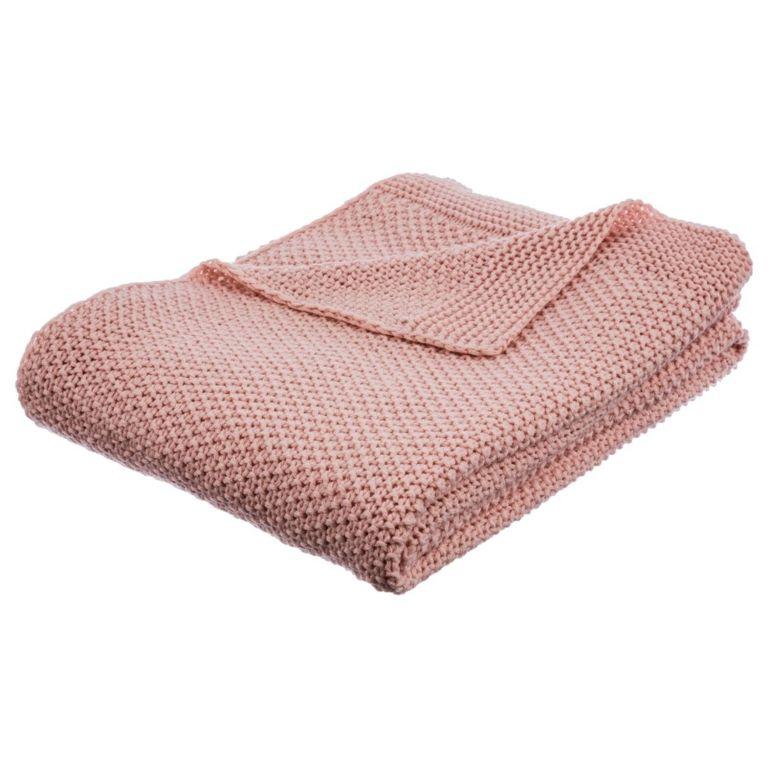 Plaid Tricot Rose 125x150 Tricot Rose Tricot Textiles