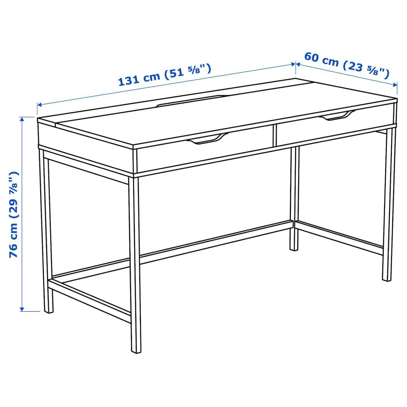 ALEX Desk - white 51 5/8x23 5/8