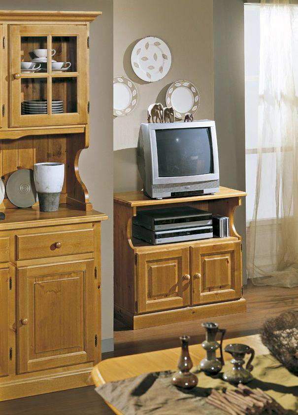 Mobile rustico PORTA TV 2 ante in legno di pino. Prodotto in Italia ...