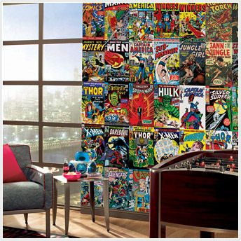 I'm doing a comic book themed game room! Marvel Comic Book ...