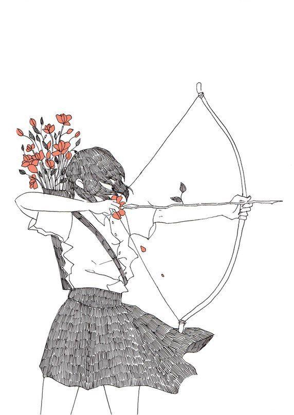 ao longo dos muros da morte corre a menina com o arco o vento agita