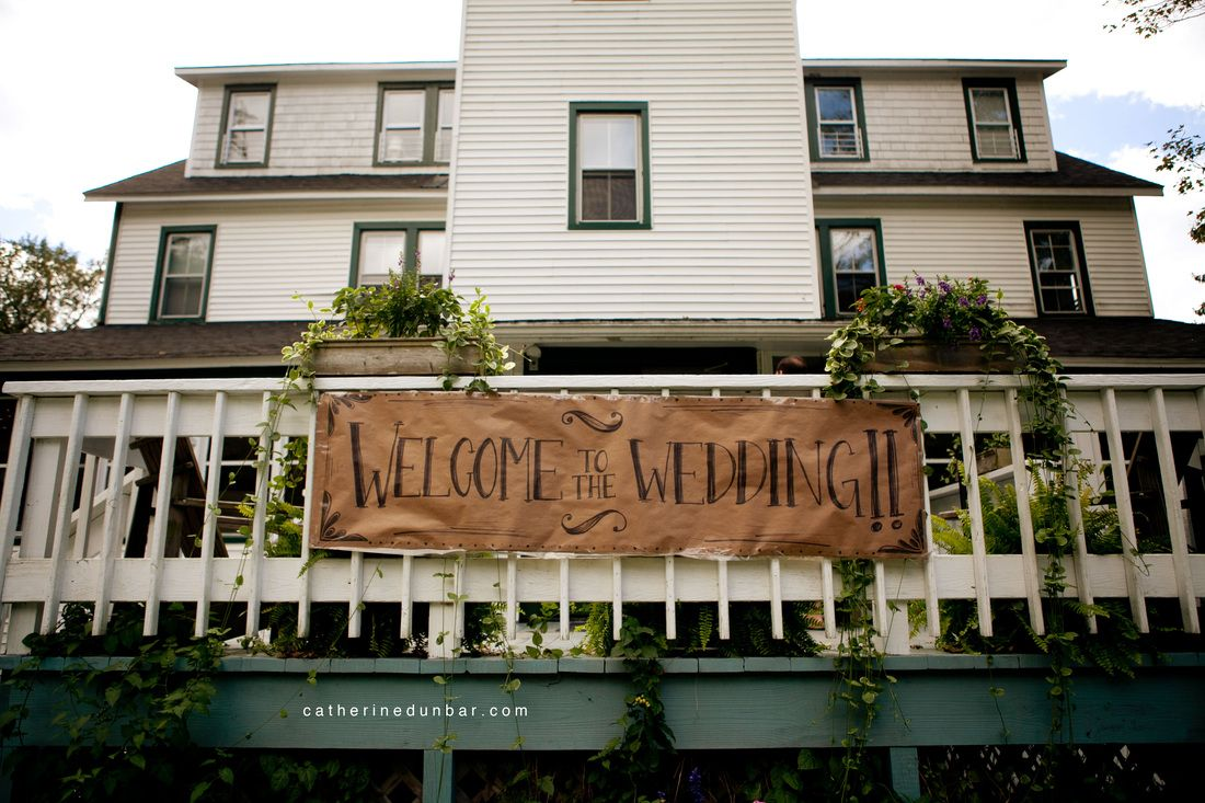 Welcome Sign At Full Moon Resort For Remle And Jeff S Wedding Photo By