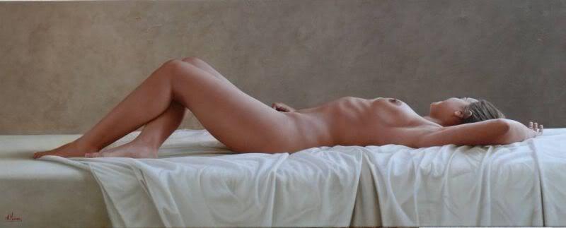 D.W.C. Nude at Home - Painter Alexandre Monntoya | DANCES WITH COLORS