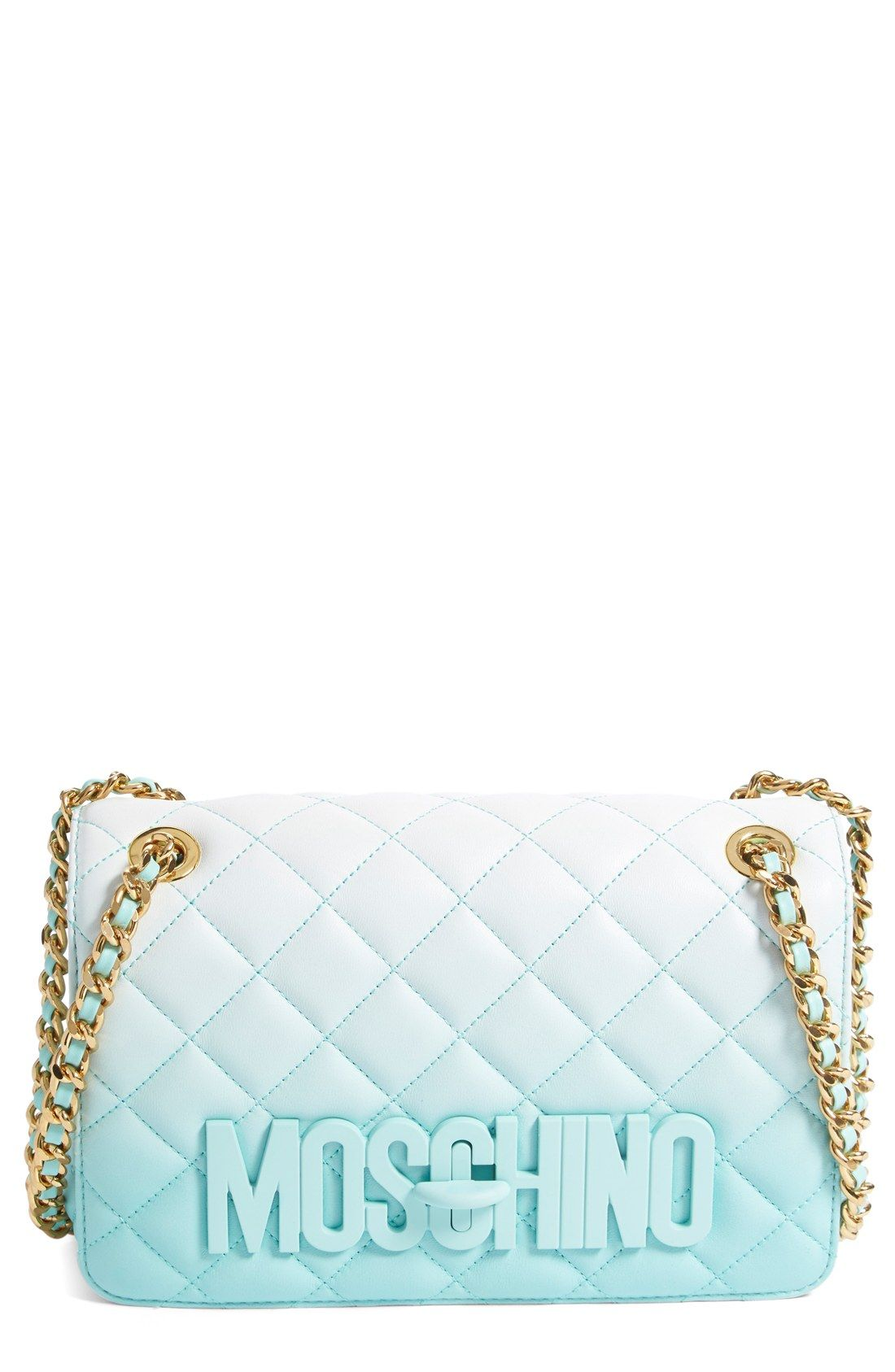 523ccbffd7 Moschino 'Medium Letters' Dégradé Quilted Leather Shoulder Bag ...