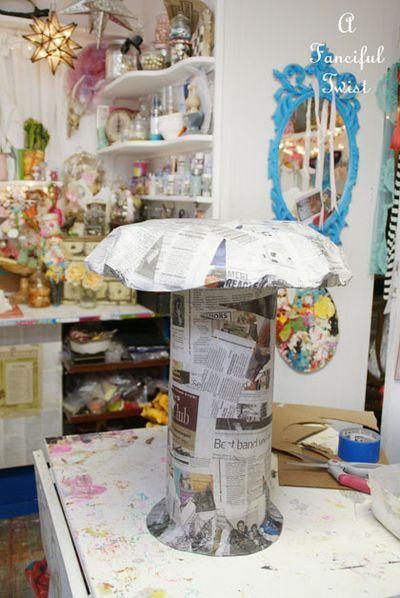 Giant Papier Mch Mushroom