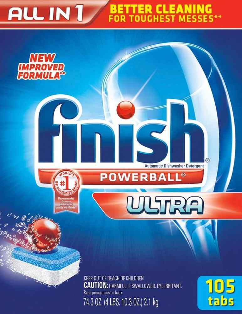 Finish Automatic Dishwasher Detergent Soap Powerball Ultra Dish