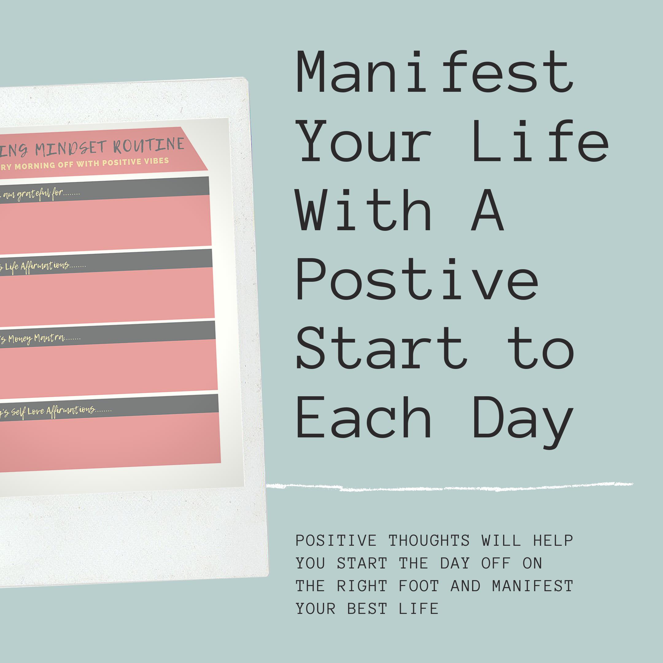 Get Your Free Mindset Worksheet Now Positive Mindset