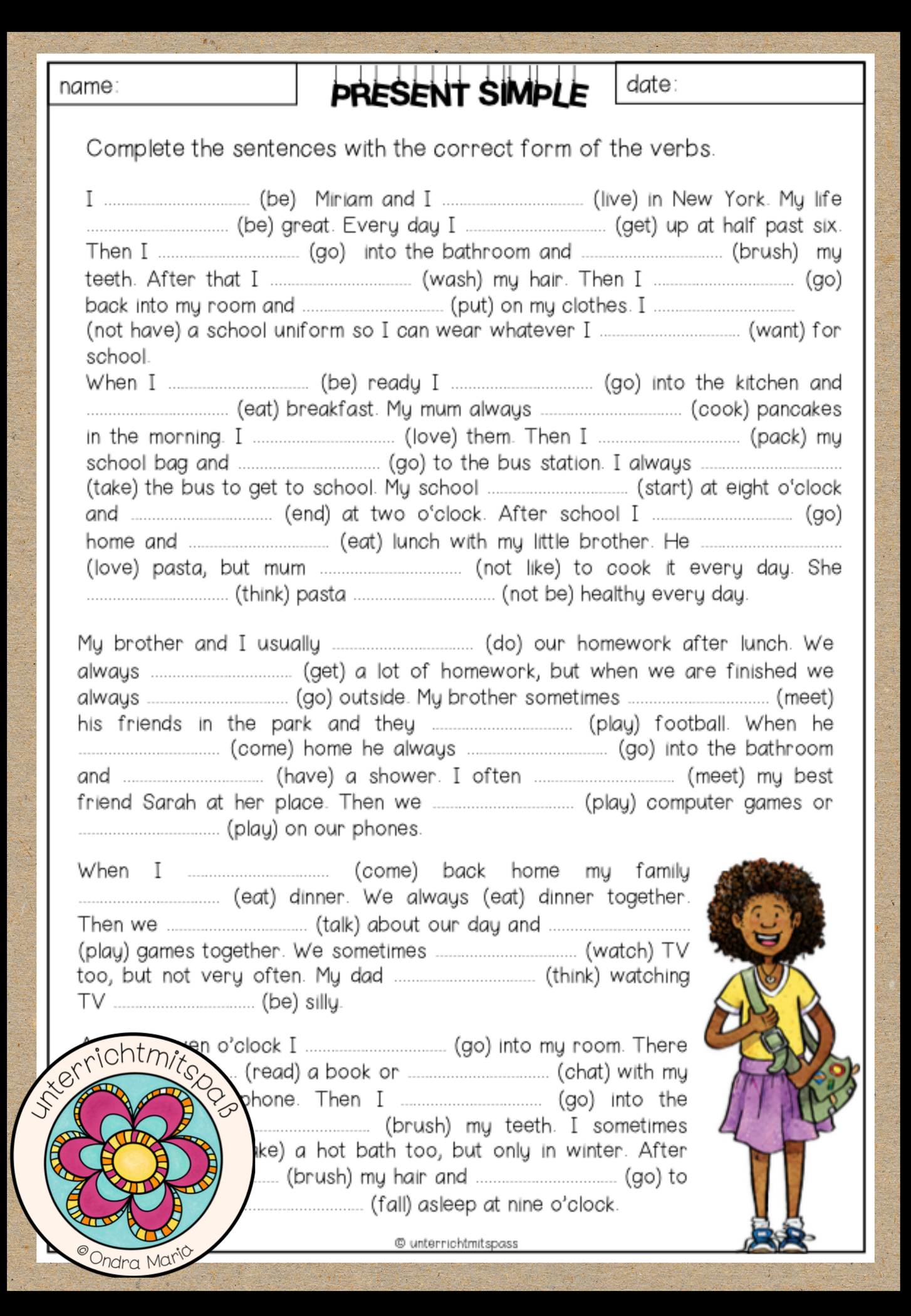Cloze Sentences Worksheets   Printable Worksheets and Activities for  Teachers [ 2100 x 1454 Pixel ]