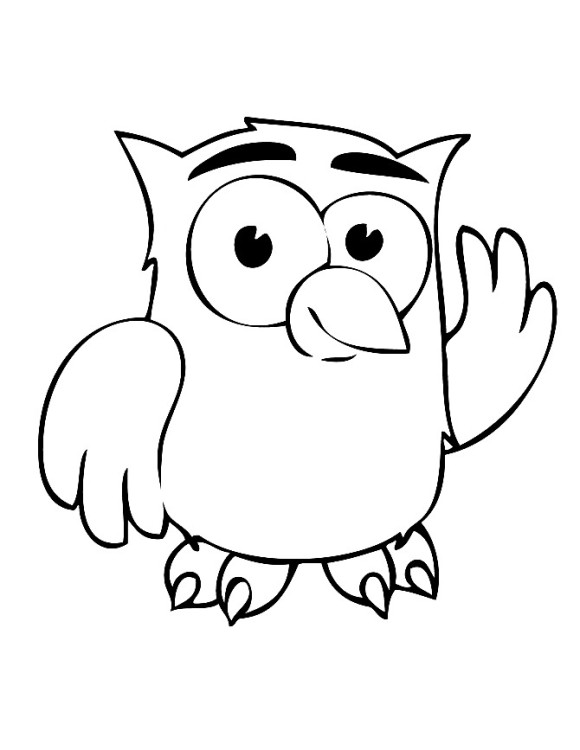 Owl Coloring Page Free Coloring Page Template Printing Printable Owl Coloring Pages For Kids Owl Owl Coloring Pages Cartoon Coloring Pages Owl Cartoon