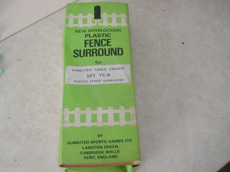 Subbuteo Cricket Fence Surround - Subbuteo Cricket Fence - Cricket - Set Tc-R & Subbuteo Cricket Fence Surround - Subbuteo Cricket Fence - Cricket ...