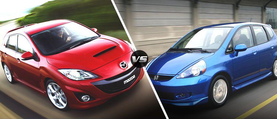 2009 #Mazda3 vs. 2009 Honda Fit