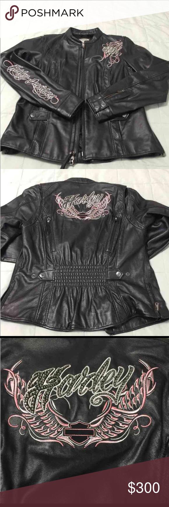 Ladies Harley Davidson Leather Jacket Nwot Bling Harley Davidson Leather Jackets Leather Jacket Harley Davidson Jacket [ 1740 x 580 Pixel ]