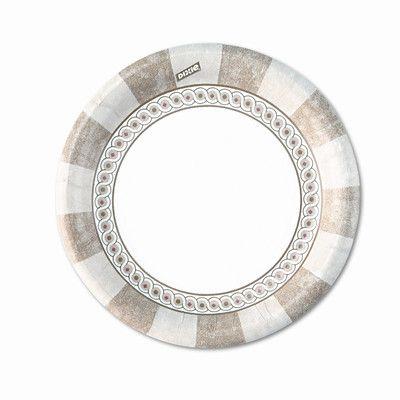Dixie Pathways Mediumweight Paper Plates,Wisesize, 500/Carton